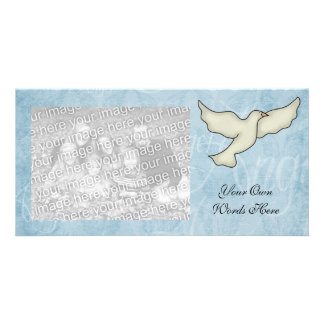 Photo Card  Angel Dove Template