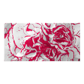 Photo Card - Carnation in Red & White