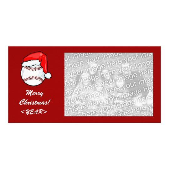 Photo Card - Christmas Baseball