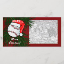 Photo Card - Christmas Baseball