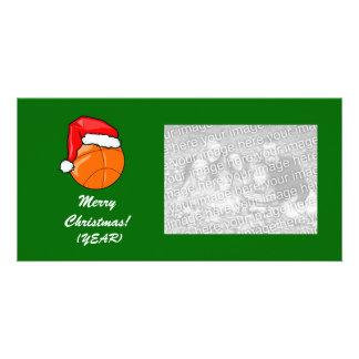 Photo Card - Christmas Basketball
