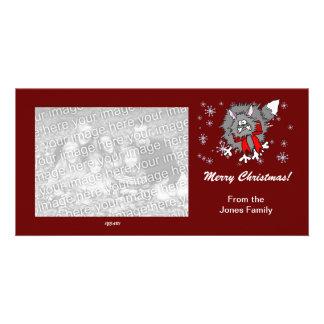Photo Card - Christmas Crazy Cat