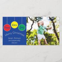 "Photo Card ""Christmas Ornaments"""