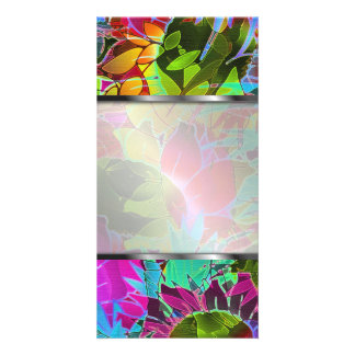 Photo Card Floral Abstract Artwork