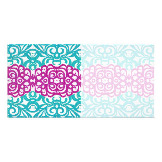 Photo Card Floral abstract background