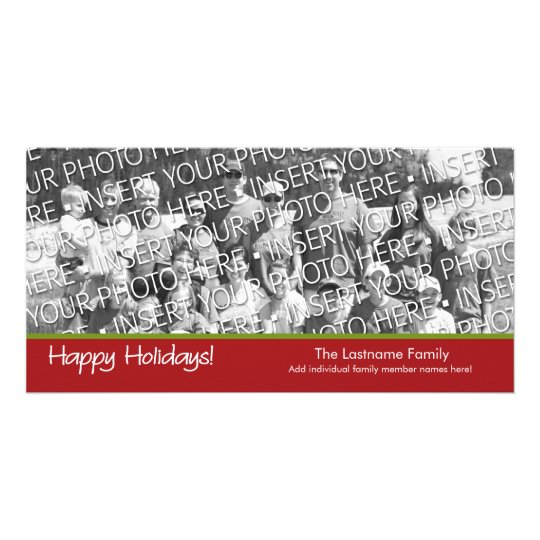 Photo Card: Happy Holidays with 1 large photo Card