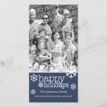 Photo Card: Happy Holidays with 1 large photo Holiday Card