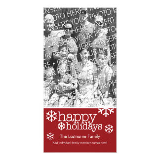 Photo Card: Happy Holidays with 1 large photo