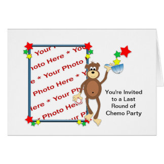 Photo Card - Last Round of Chemo Party Invitation