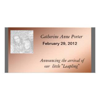 Photo Card - Leap Day Birth Announcement