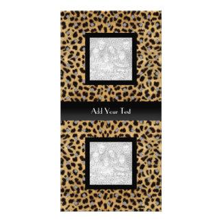 Photo Card Leopard Animal Look Elegant Black