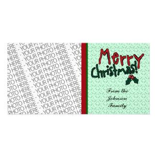 Photo Card, Merry Christmas, Cute Photo Template