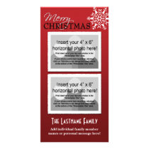 Photo Card: Merry Christmas Red Card