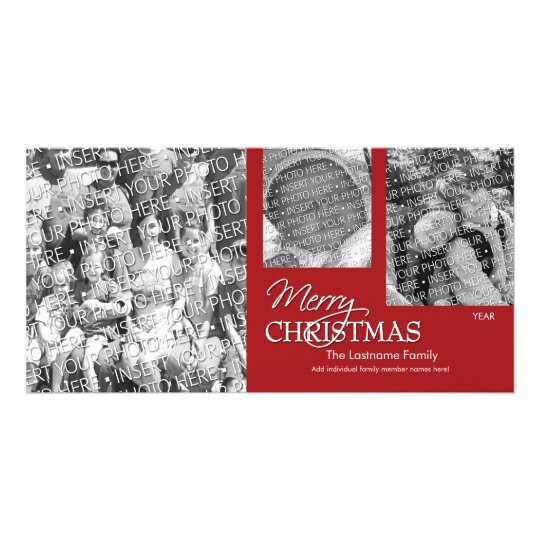Photo Card: Merry Christmas Simply Red Card