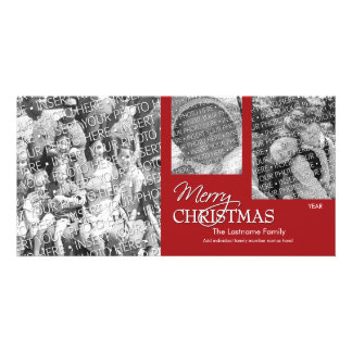 Photo Card: Merry Christmas Simply Red