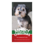 Photo Card: Merry Christmas with 1 large photo