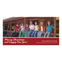 Photo Card: Merry Christmas with 1 large photo Card