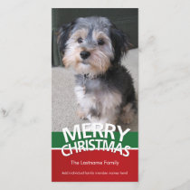 Photo Card: Merry Christmas with 1 large photo Holiday Card