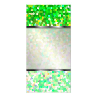 Photo Card Mosaic Sparkley Texture