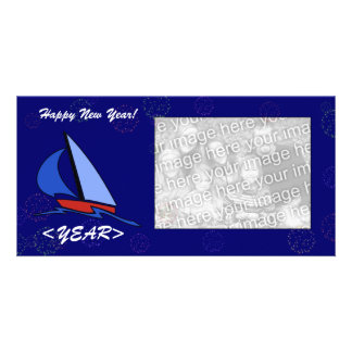 Photo Card - New Year Sailboat