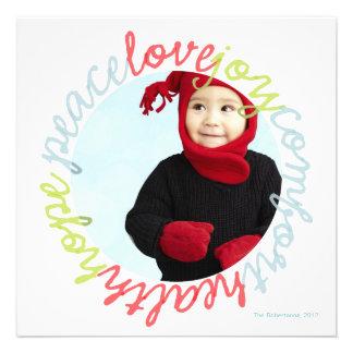 Photo Card of Peace Love Joy Comfort Hope Health