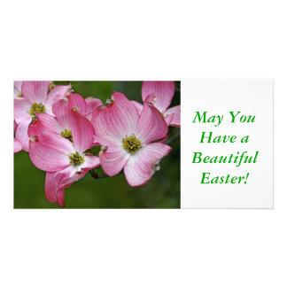 Photo Card:  Pink Dogwood Easter Card