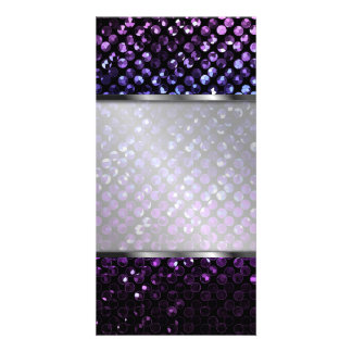 Photo Card Purple Crystal Bling Strass