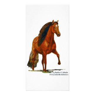 Photo Card, Red Peruvian Paso Photo Card