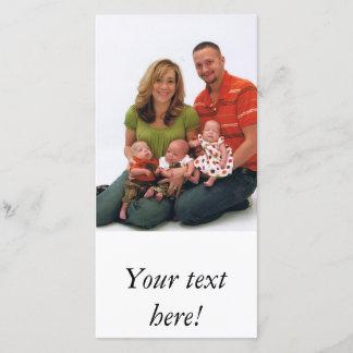 Photo card template