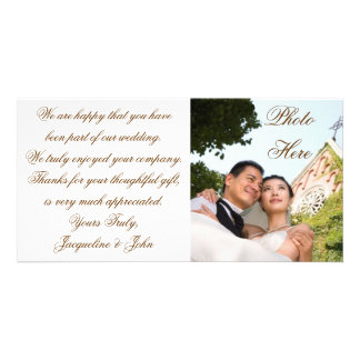 Photo Card ~ Wedding Thank You Picture Bridal