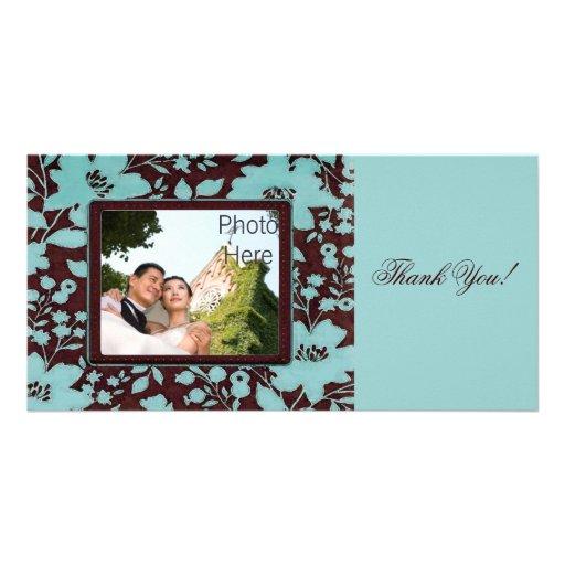 photo cards thank you wedding photo insert zazzle