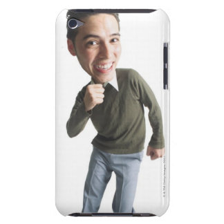photo caricature of a young asian man in grey 2 iPod Case-Mate case