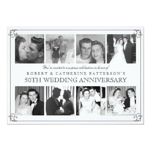 Photo celebration th wedding anniversary card zazzle