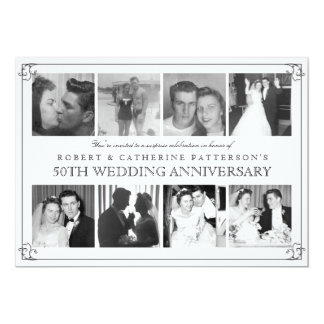 Photo Celebration 50th Wedding Anniversary Card