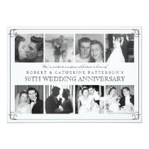 Photo Celebration 50th Wedding Anniversary Invitation