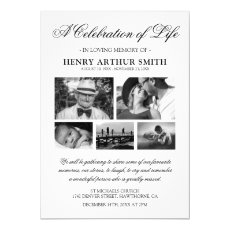 Photo Celebration of Life Funeral Invitation