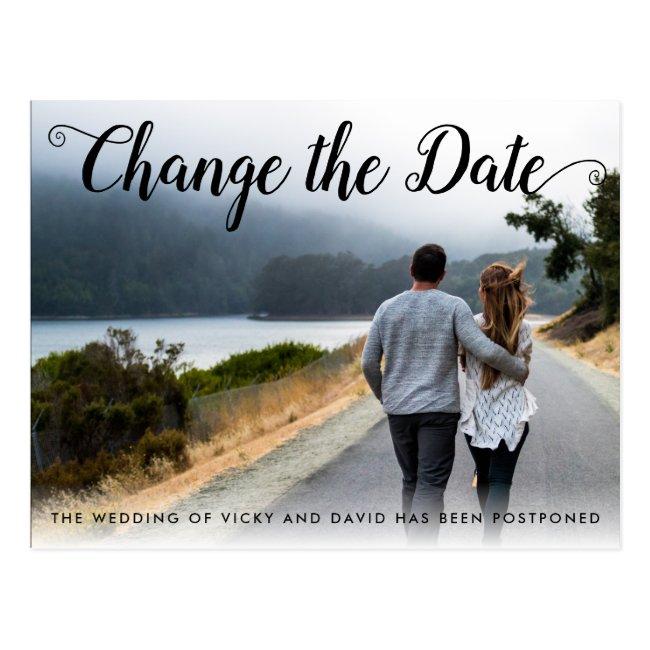 Photo Change the Date postponement announcement Postcard