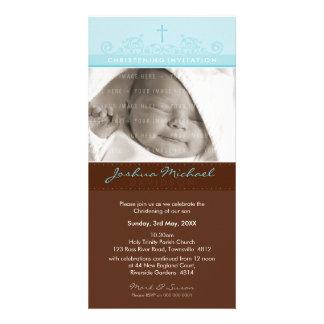 PHOTO CHRISTENING INVITATIONS :: elegant 1