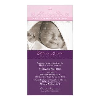 PHOTO CHRISTENING INVITATIONS :: elegant 4