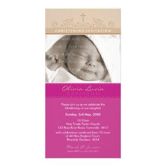 PHOTO CHRISTENING INVITATIONS :: elegant 5