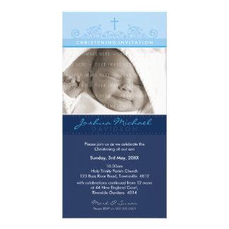 PHOTO CHRISTENING INVITATIONS :: elegant 6