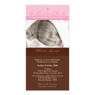 PHOTO CHRISTENING INVITATIONS :: elegant 7