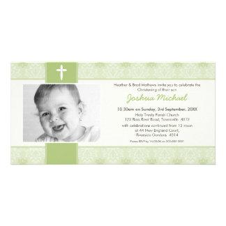 PHOTO CHRISTENING INVITATIONS :: pretty 8L