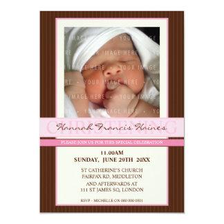 PHOTO CHRISTENING INVITES :: elegance 4P