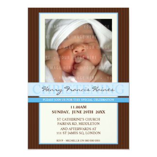 PHOTO CHRISTENING INVITES :: elegance 5P