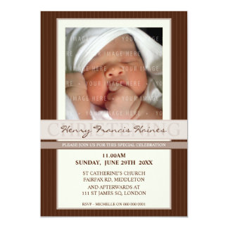PHOTO CHRISTENING INVITES :: elegance 6P