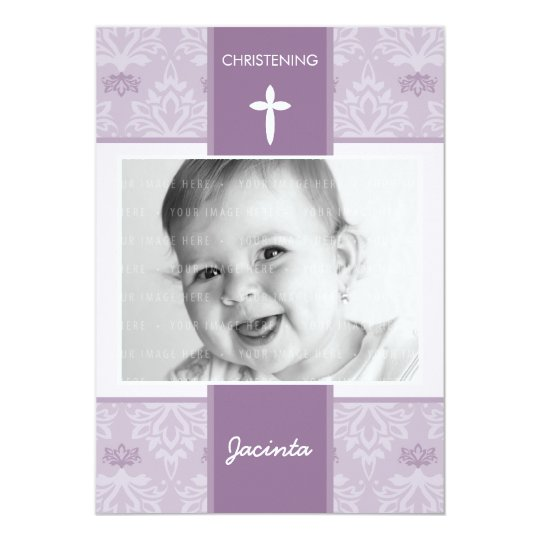 PHOTO CHRISTENING INVITES :: pretty 5P