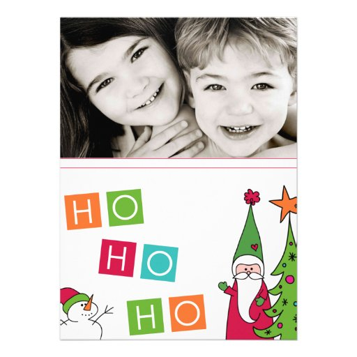 Photo Christmas Card Custom Invitations