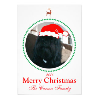 Photo Christmas Card - Holiday Card Invitation