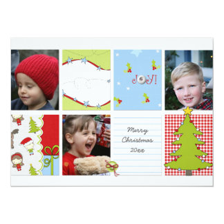 """Photo Christmas Card 5.5"""" X 7.5"""" Invitation Card"""
